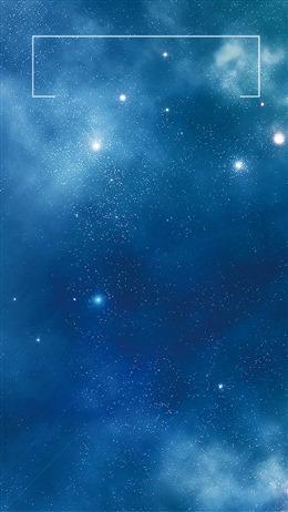 蓝色粒子唯美星空科技背景