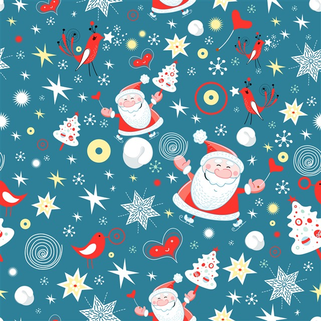圣诞元素贴纸图案矢量