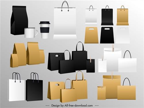 各种手提袋包装袋样机