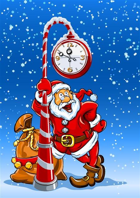 圣诞老人手绘插画海报