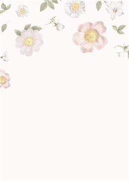 小清新手绘鲜花背景图片
