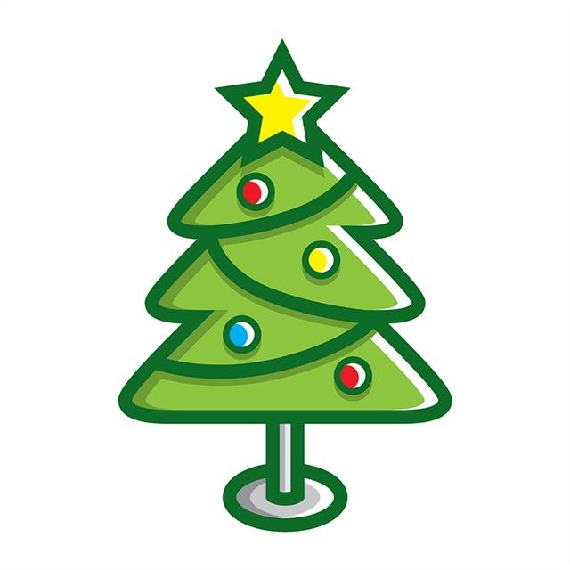 手绘圣诞树简笔画