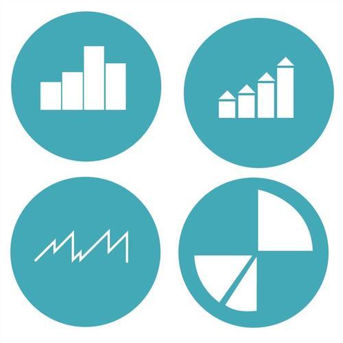 矢量业务数据统计图标