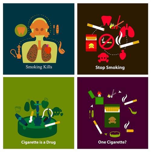 创意禁烟矢量图案
