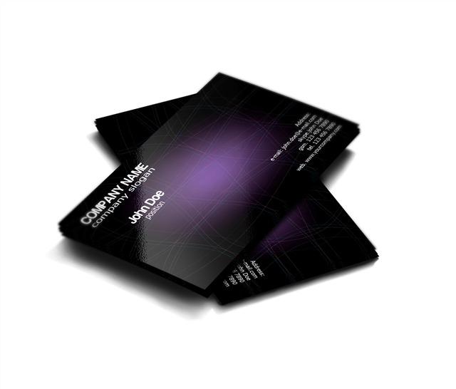 黑色名片制作模板
