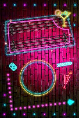 酒吧霓虹灯质感广告背景