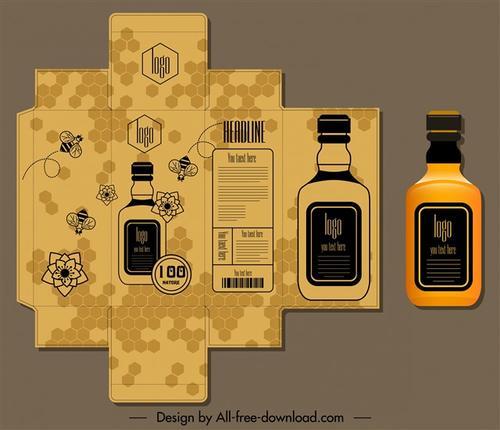 包装盒设计平面图