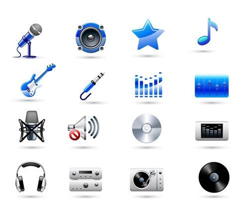录音棚设备图标