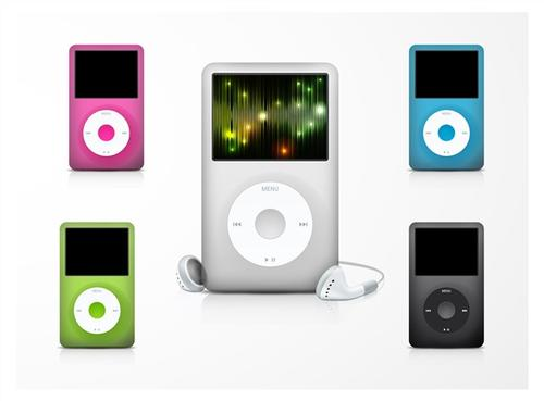 彩色苹果ipod系列样机