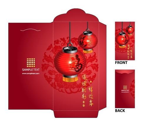 新年红包正反面设计