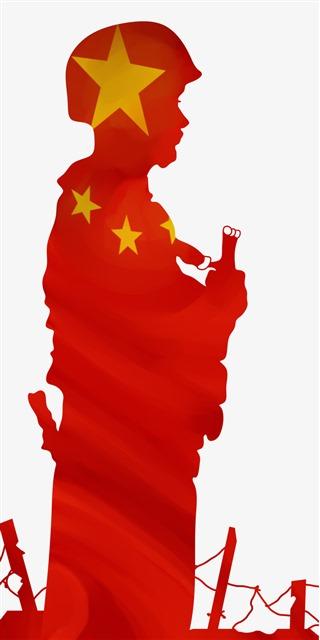 中国军人矢量图