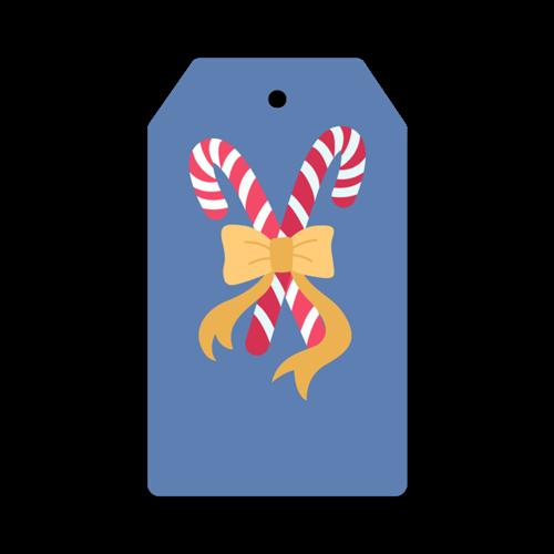 圣诞节拐杖糖标签