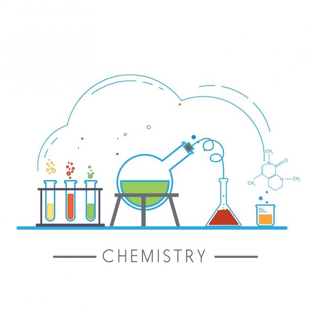 化学实验插画