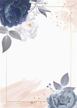 花卉装饰边框背景图片