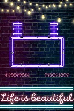 霓虹灯发光灯管背景