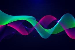 波浪线PPT背景图案