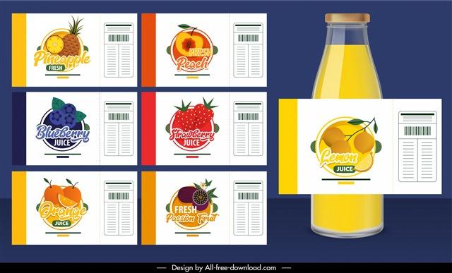 饮料瓶贴设计图片