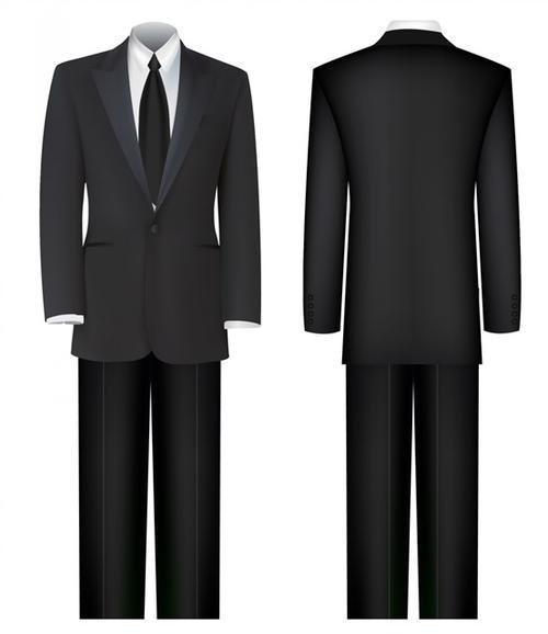 黑色西服全身证件照