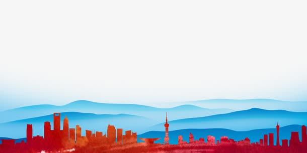 城市建筑楼房剪影