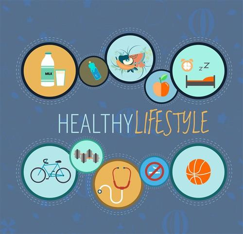 健康生活方式矢量图标