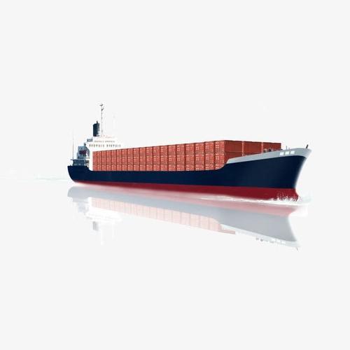 轮船运输货物实拍图