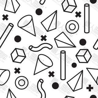 黑白几何元素图片