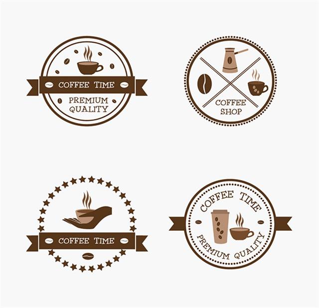 复古咖啡标签