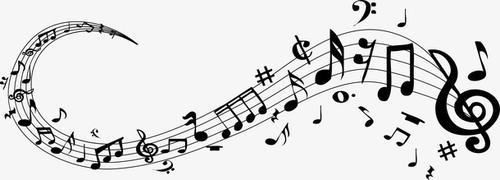 五线谱音符漂浮元素