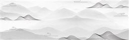 灰色淡雅山水水墨背景图片