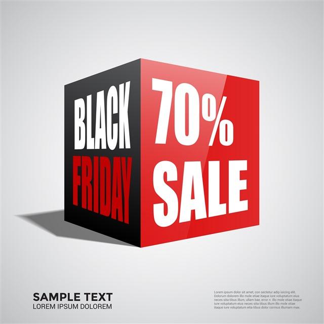 黑色星期五打折广告图片