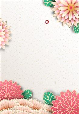 精致中国风花卉背景图片