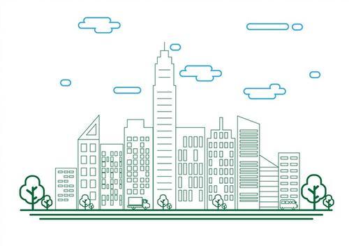 城市建筑轮廓图