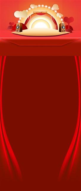 红色双十二店铺首页背景图片