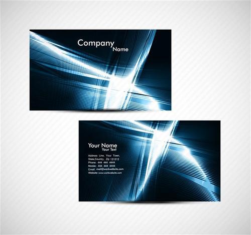 科技企业名片设计模板