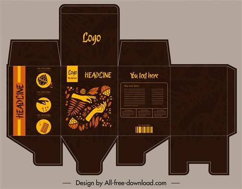 创意包装盒设计展开图