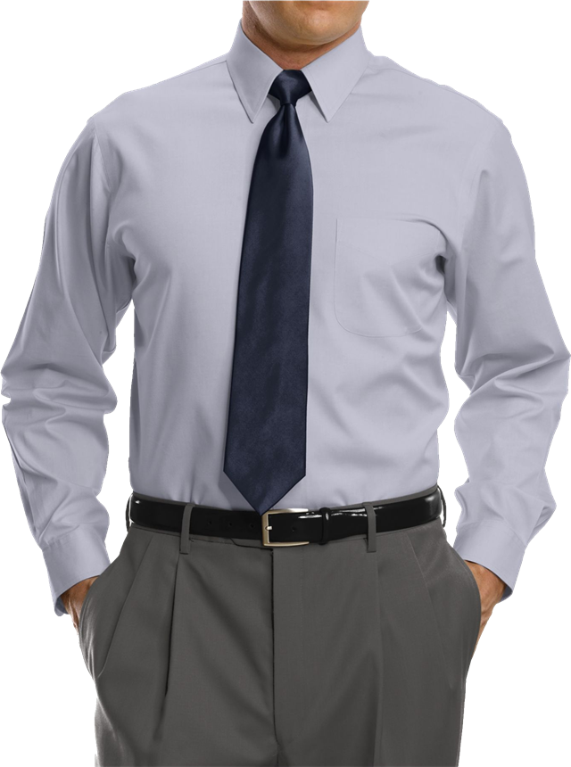 商务灰衬衫图片