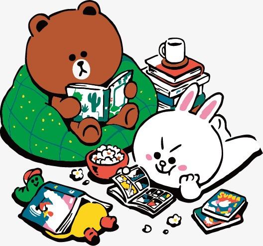 布朗熊与可妮兔图片