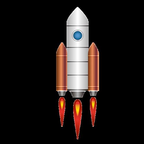 卡通嫦娥五号火箭图片