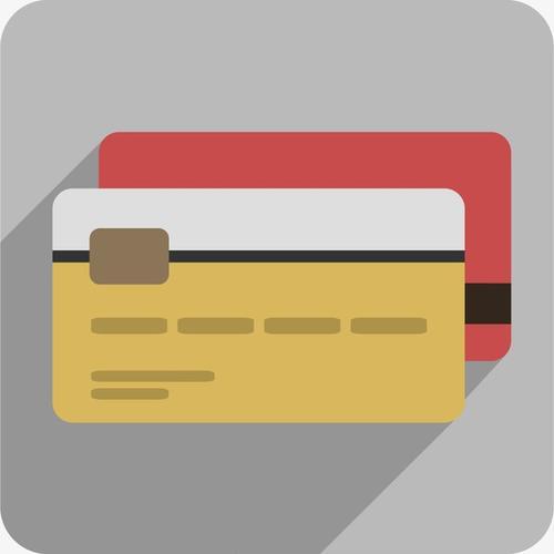卡通银行卡矢量图