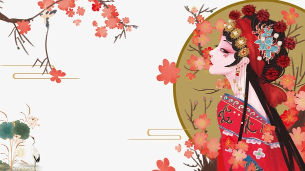 国潮中国风戏曲潮图