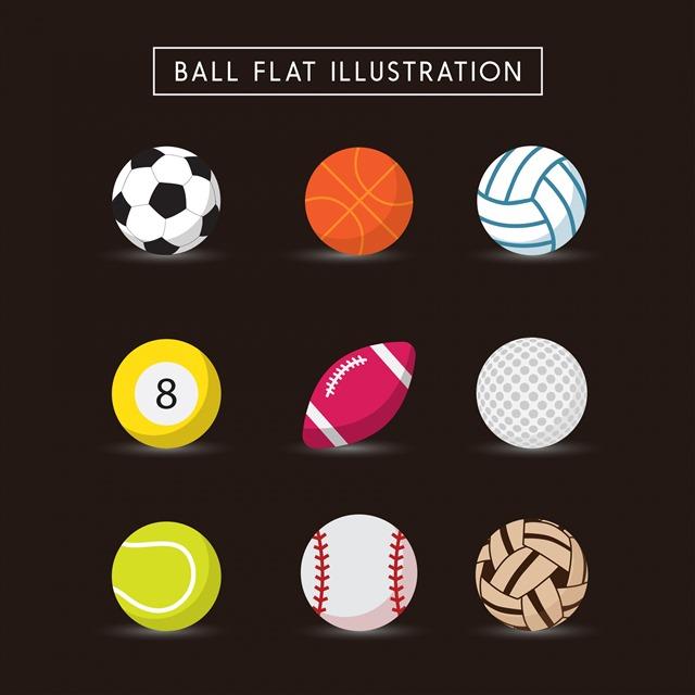 球类矢量图