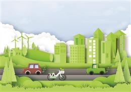 绿色环保剪纸插画