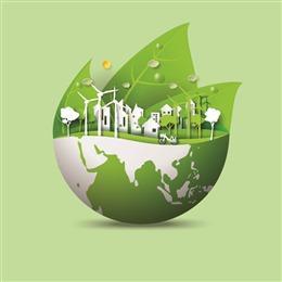绿色地球创意背景