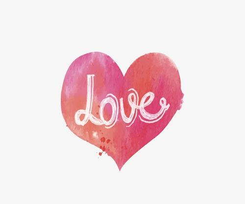 love粉色爱心矢量图标