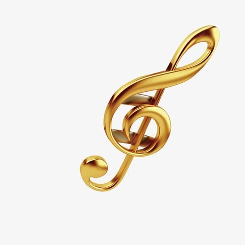 金色音符元素