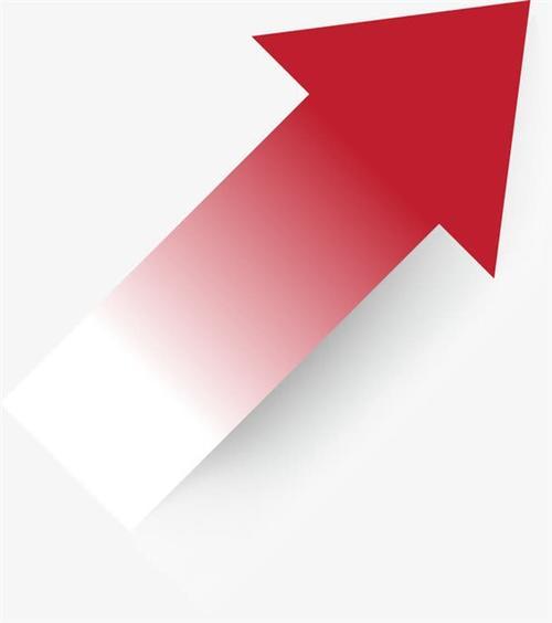 白底红色箭头标志