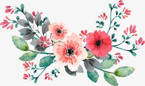 感恩节手绘鲜花