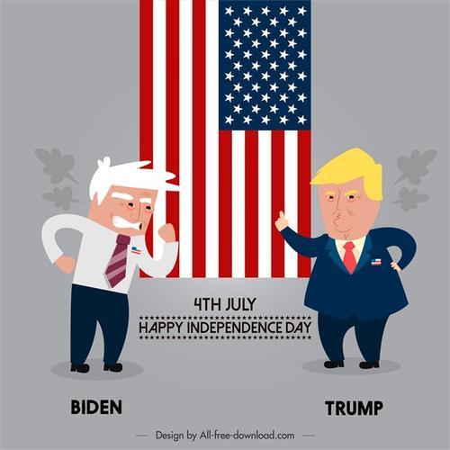 特朗普和拜登pk搞笑图片