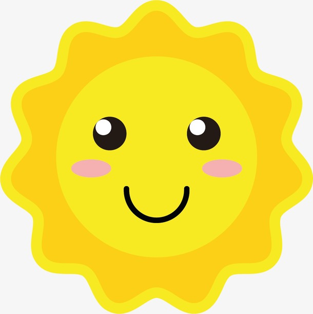 卡通可爱圆形太阳图片