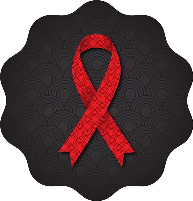 世界艾滋病日公益红丝带